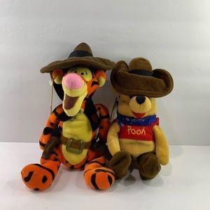 "Cowboy Tigger & Winnie the Pooh 9"""